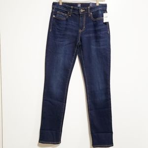 GAP Women Straight Ankle Mid Rise Denim Jeans